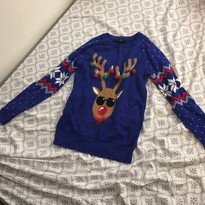 Rudolph sweater for the holidays